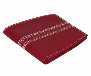 Cricket Ball-Style Leather Wallet