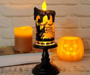Halloween Snow Globe Candle