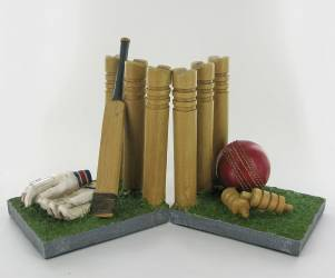 Novelty Bookends for Cricket Fans