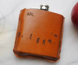 Personalized Cricket Hip Flask