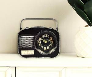 Vintage Radio Design Table Clock