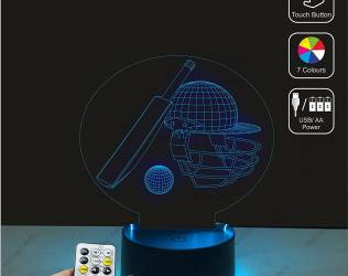 Cricket-Themed 3D LED Lamp