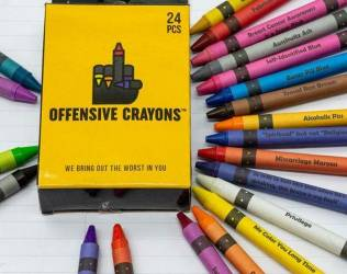 Pack of Offensive Crayons