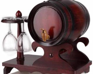 Wooden Decanter Barrel