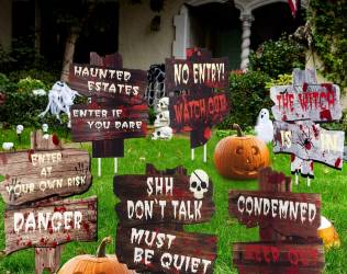 Yard Decoration Warning Signs