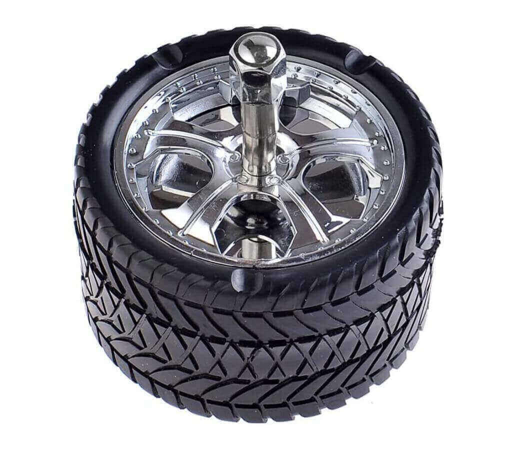 Tire-Shaped Windproof Ashtray